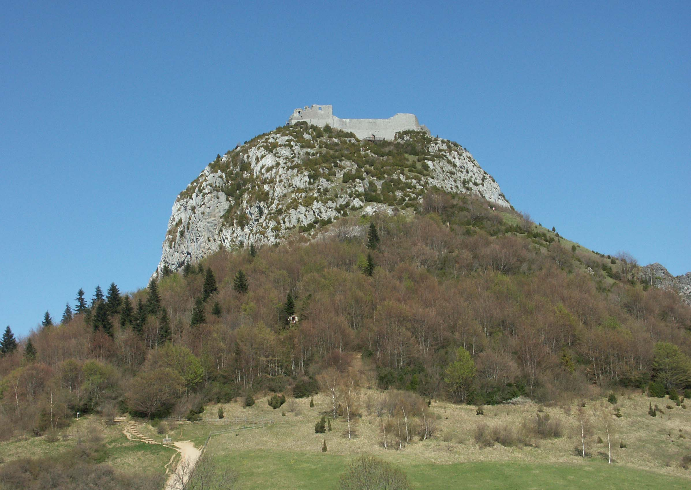 Montsegur with Lévis chateau